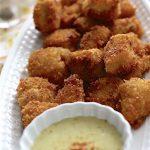 Crispy Chicken Bites + Honey Mustard Sauce | SpoonfulOfButter.com