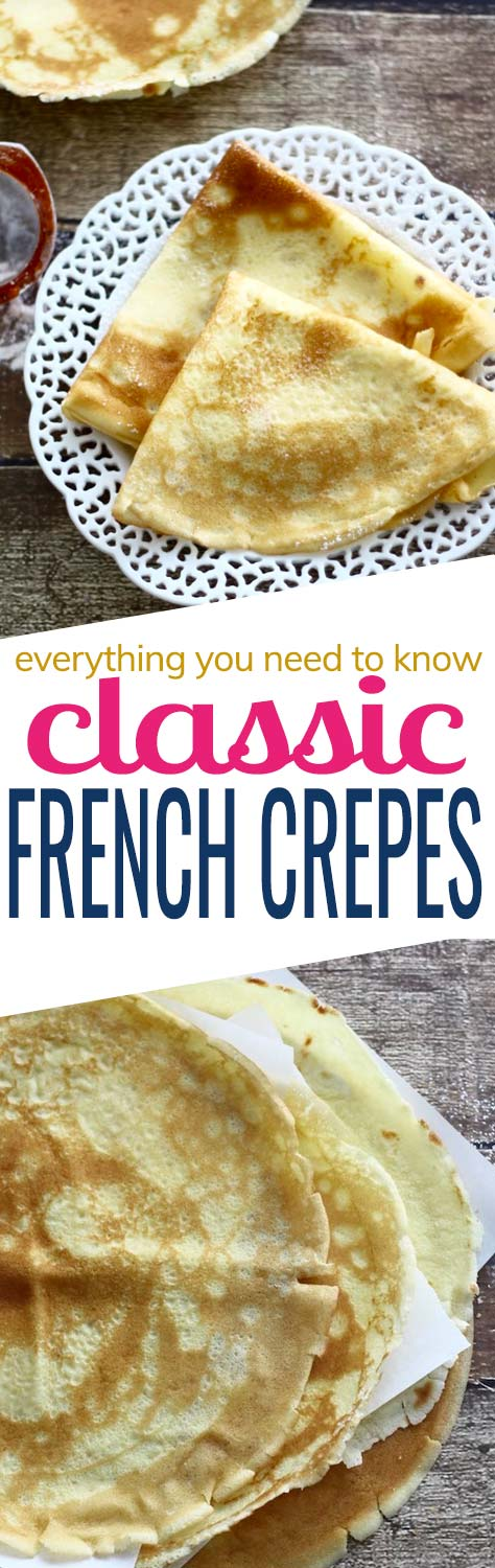 Everything you need to know to make the classic French crepes at home. For some people, crepes sound so fancy and seem difficult to make. It's understandable as they're thin and can tear if not handled delicately. But don't let crepes intimidate you. It's common that you will not get it right on your first try – just be patient and after a few tries you'll be a pro.