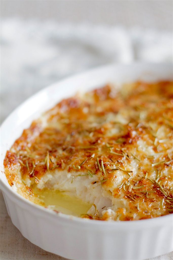Parmesan Crusted White Fish | SpoonfulOfButter.com
