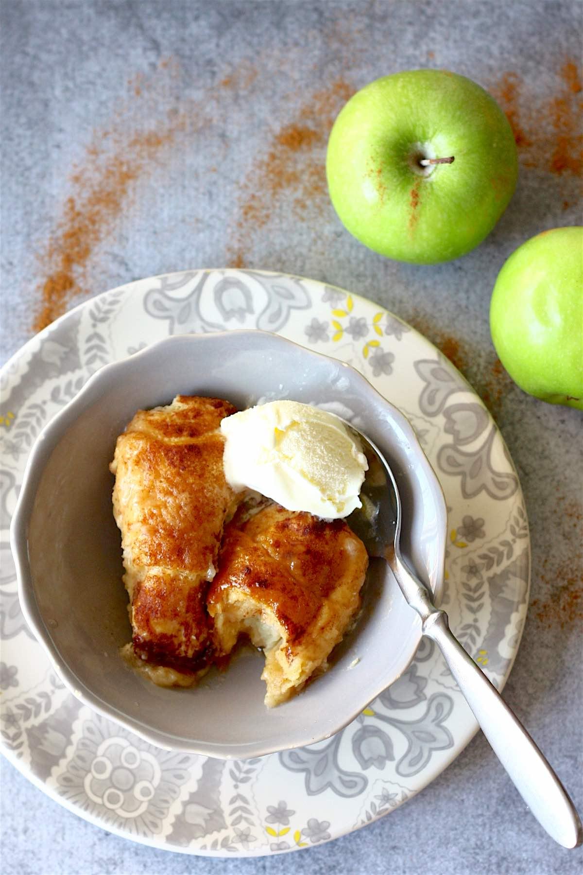 Easy Apple Dumplings | SpoonfulOfButter.com