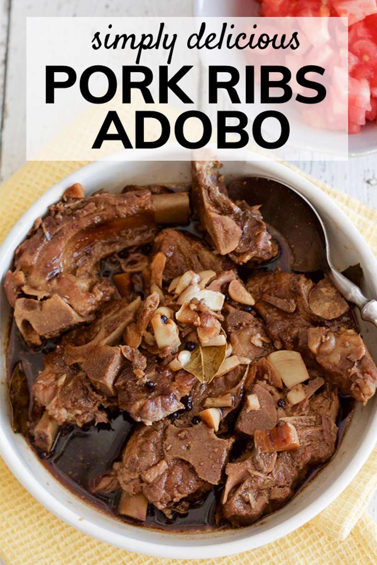 Filipino Pork Ribs Adobo | SpoonfulOfButter.com