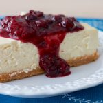 Cheesecake with Rustic Mixed Berry Sauce | www.SpoonfulOfButter.com