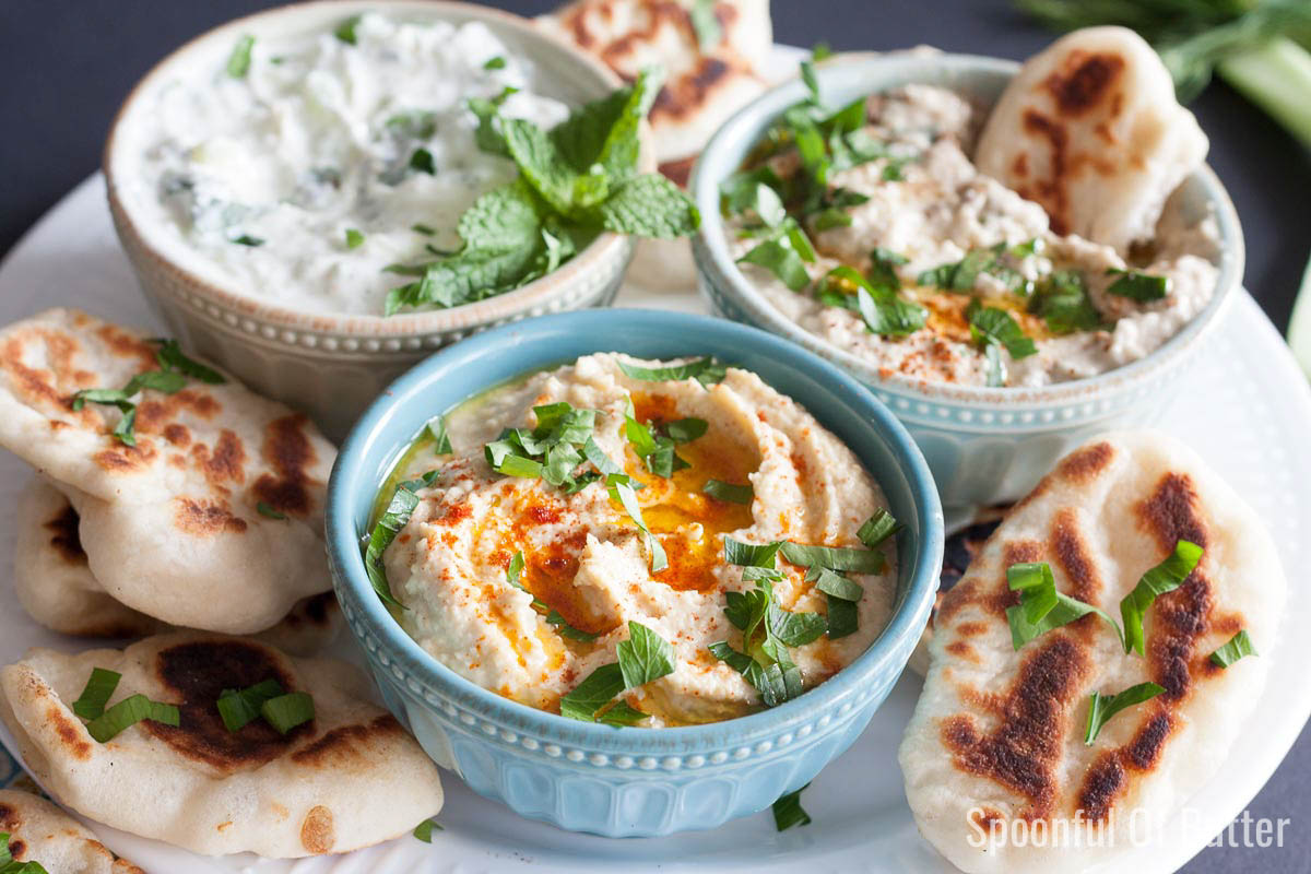 Here's a good basic recipe for hummus. Add your own toppings like roasted garlic, paprika, sun-dried tomatoes. My personal favorite is a drizzle of peri peri sauce! www.SpoonfulOfButter.com