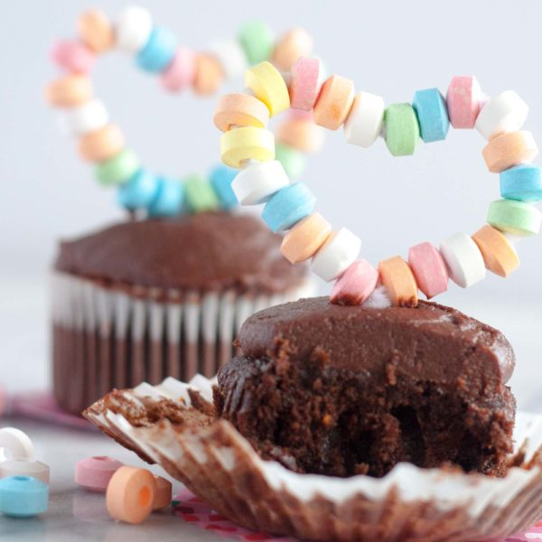 Moist Chocolate Cupcakes with Whipped Caramel Frosting