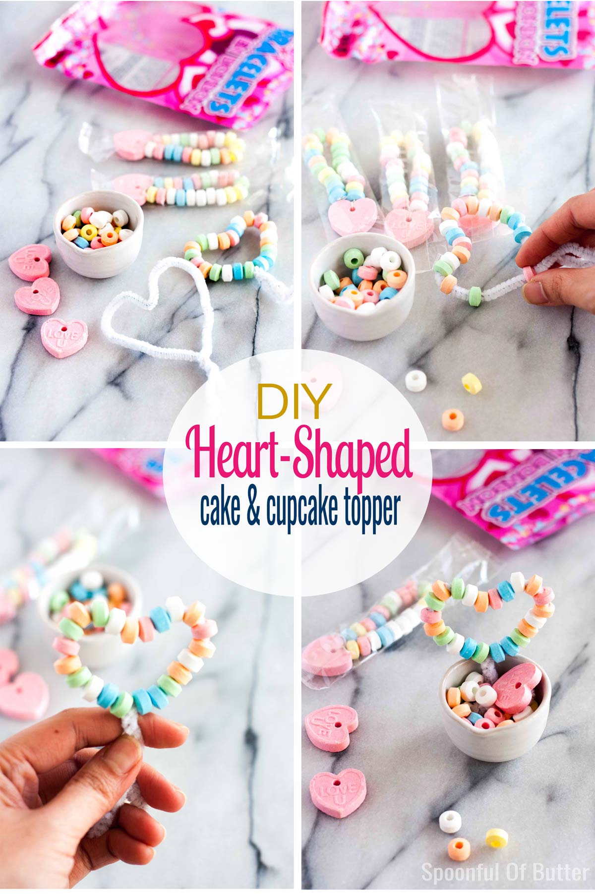 Moist, fluffy chocolate cupcake + luscious whipped caramel frosting + easy DIY heart topper. How cute and delicious is that!