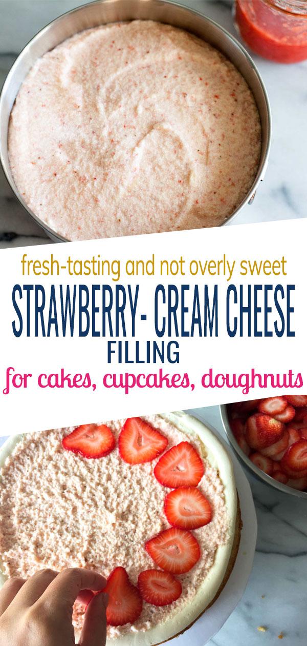 Strawberry-Cream Cheese Filling Recipe | www.SpoonfulOfButter.com