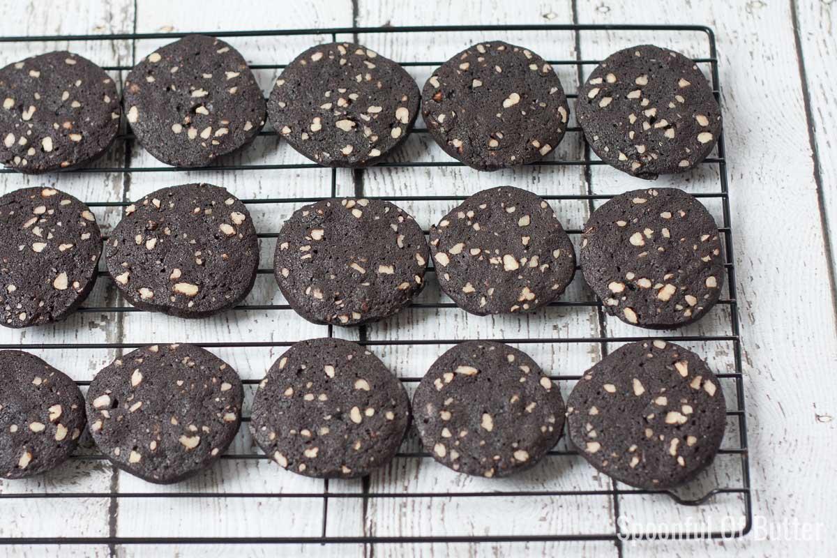 Black Cocoa-Pecan Cookies