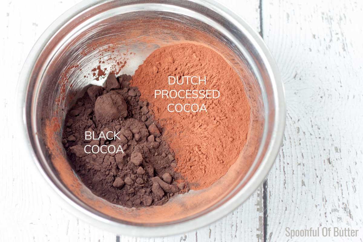 Black Cocoa Powder as compared to Dutch Processed Cocoa Powder
