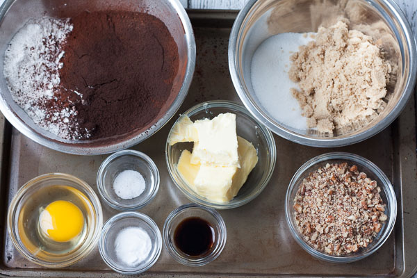 How to Make Black Cocoa-Pecan Cookies Step 1