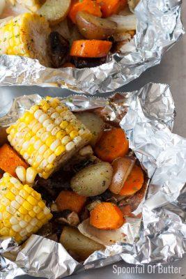 Easy Roasted Summer Vegetables Foil Packets