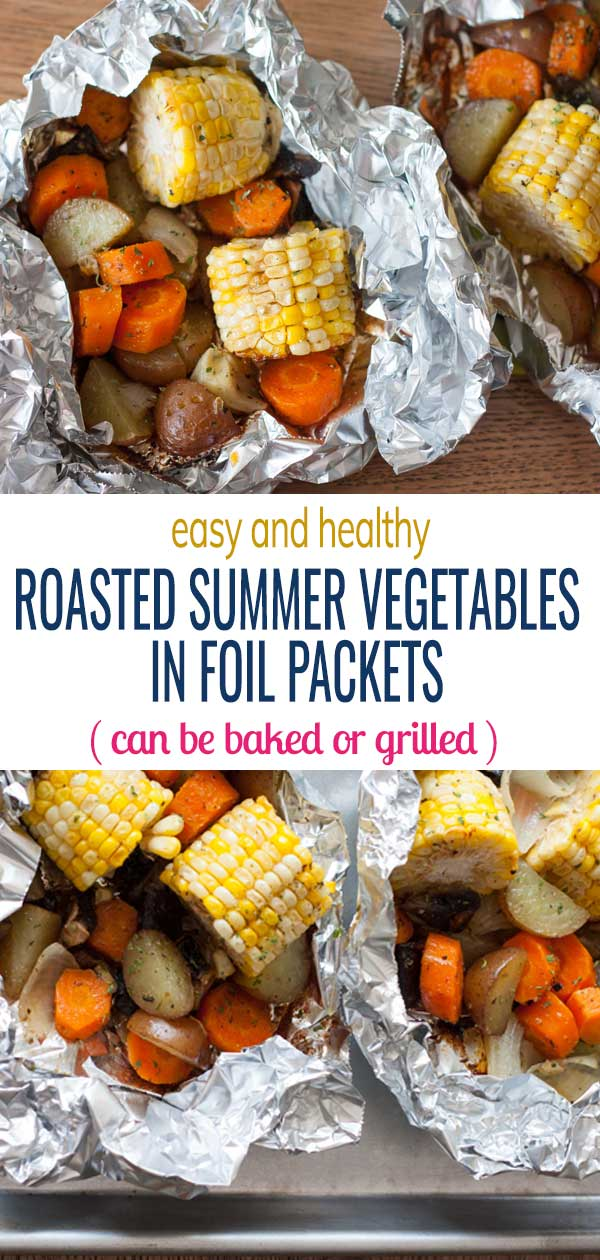 Easy and Healthy Roasted Summer Vegetables Foil Packets