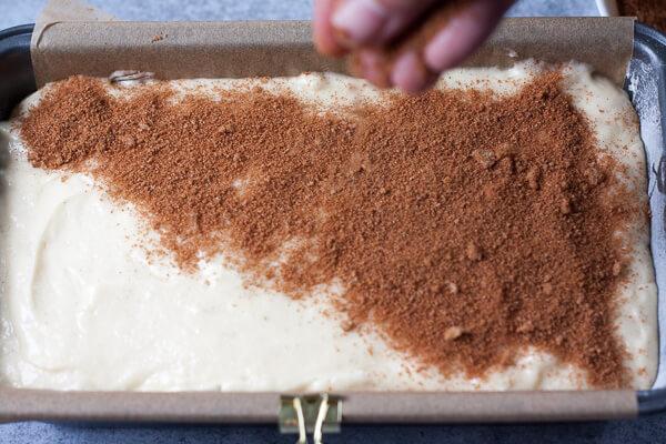 Sprinkling cinnamon sugar on top before baking