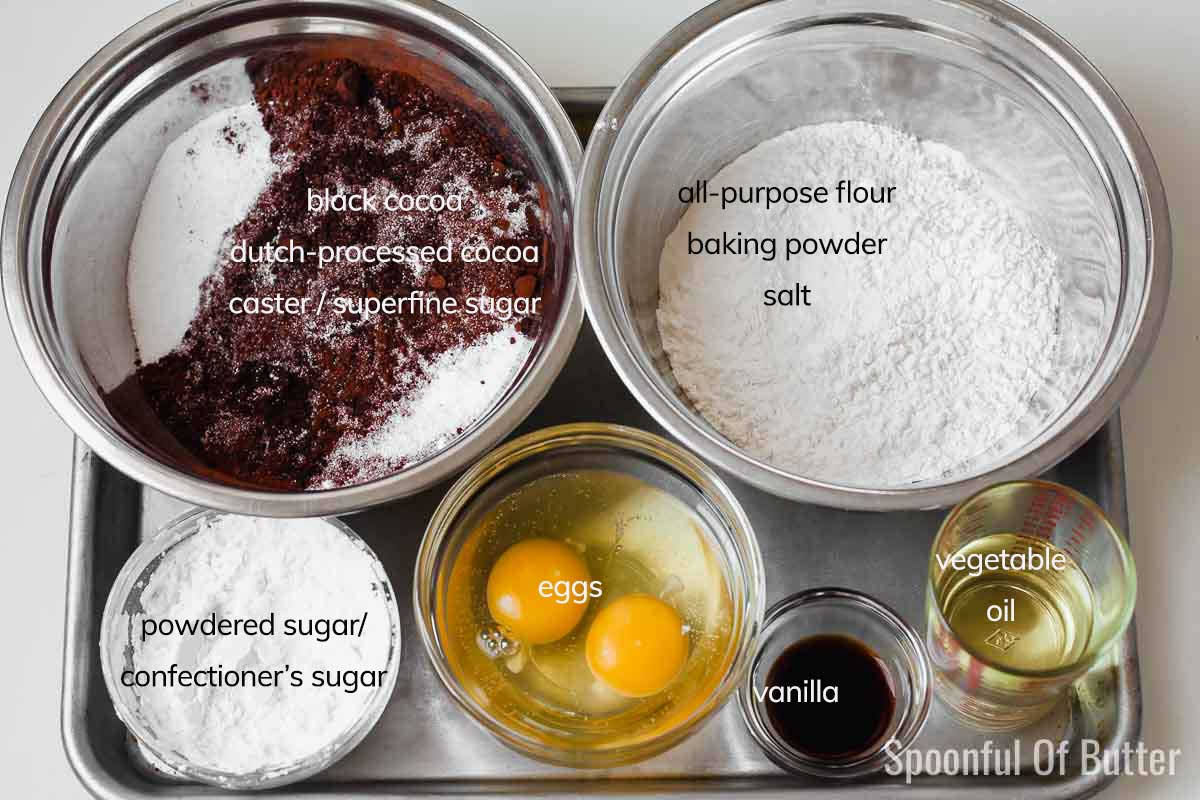 How To Make Black Cocoa Crinkles - Step 1
