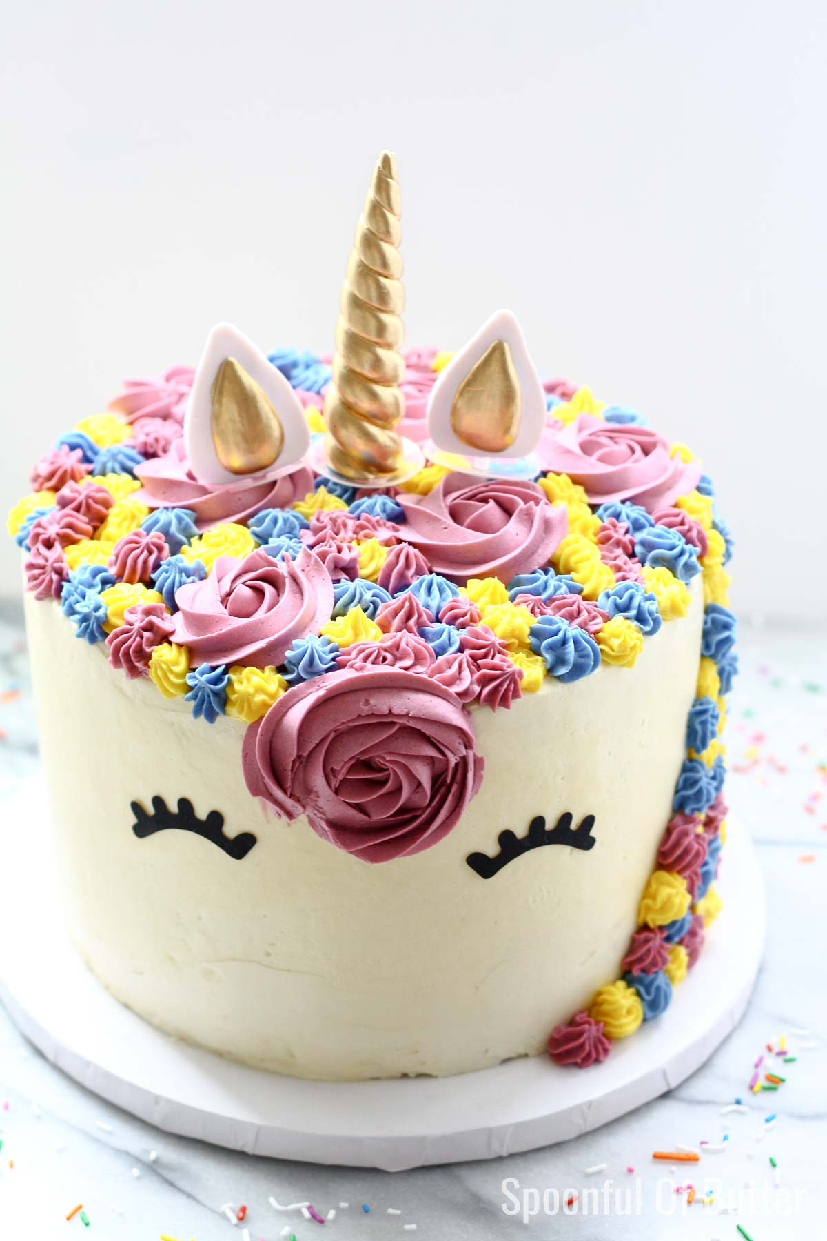 Remarkable A Unicorn Birthday Cake Spoonful Of Butter Funny Birthday Cards Online Overcheapnameinfo