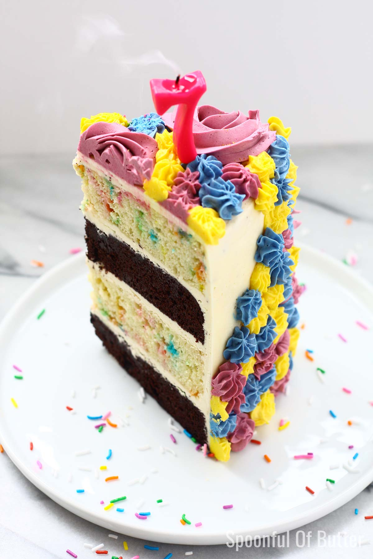 DIY Birthday Unicorn Cake 6 - an easy way to make unicorn birthday cake.