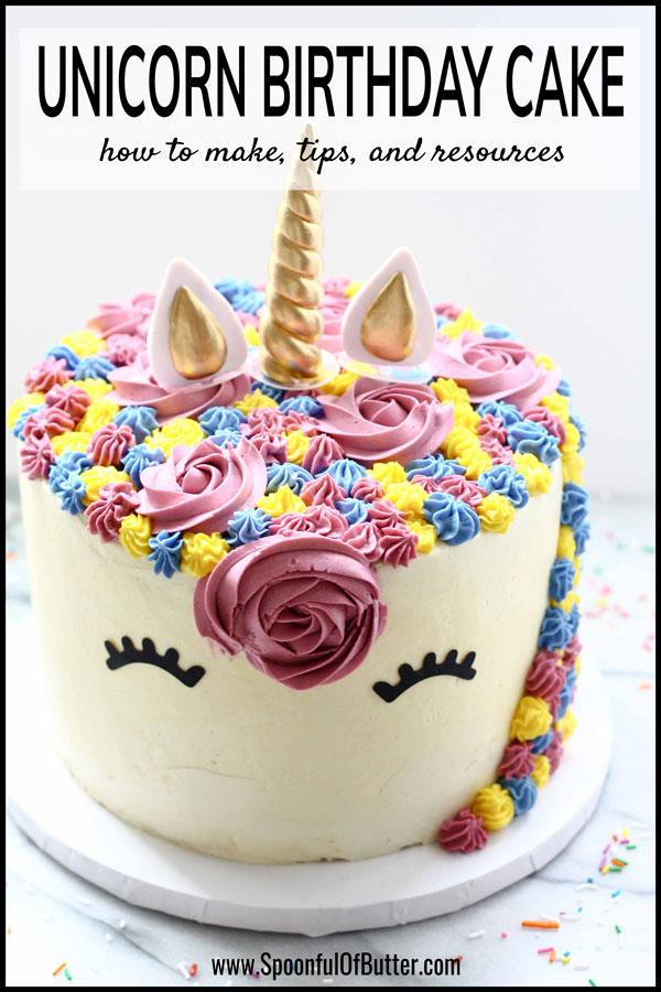 DIY Birthday Unicorn Cake 1 - an easy way to make unicorn birthday cake.