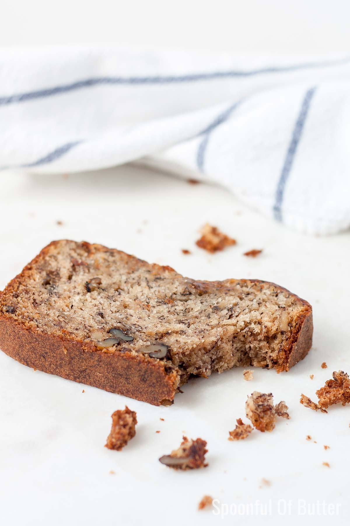 a bite of best ever banana bread