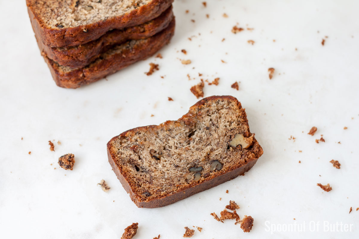 a slice of best ever banana bread