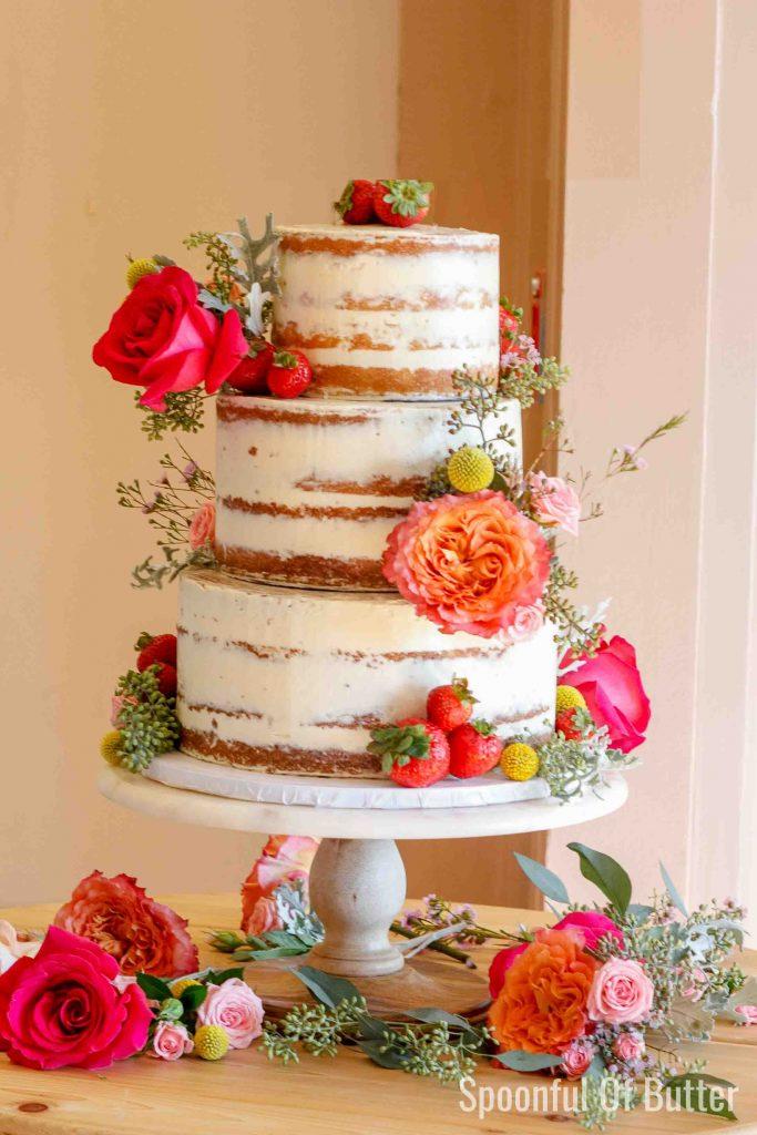 DIY Rustic Wedding Cake