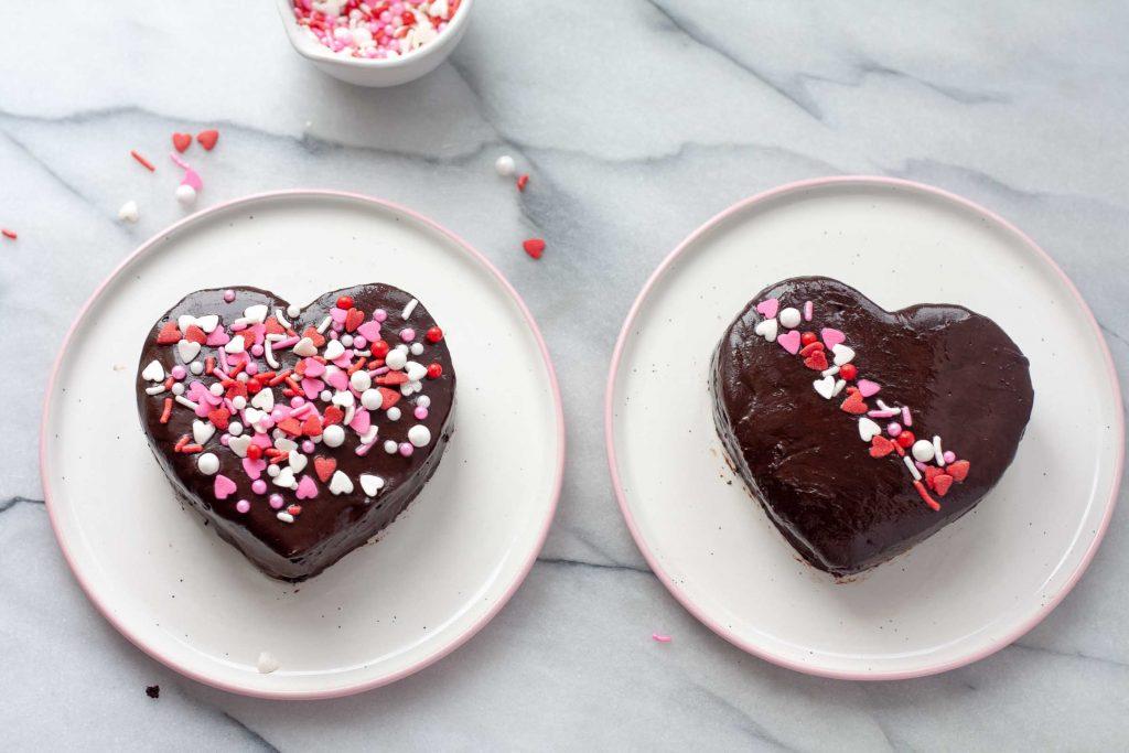 decadent chocolate ganache hearts