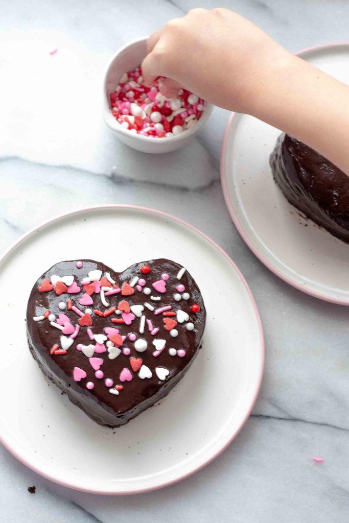 chocolate ganache hearts